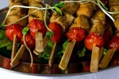 Faixa e vegetais grelhados da galinha Fotografia de Stock Royalty Free