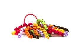 Faixa elástica colorida do cabelo das crianças Imagens de Stock