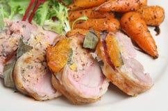 Faixa enchida da carne de porco Fotos de Stock