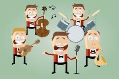 Faixa engraçada da música dos desenhos animados Imagens de Stock Royalty Free
