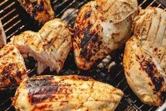 Faixa grelhada da galinha foto de stock