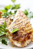 Faixa grelhada de Bresta da galinha foto de stock royalty free