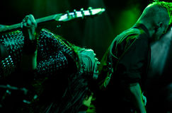 A faixa inglesa do hard rock morre assim líquido Fotografia de Stock