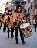 Faixa medieval dos bateristas Imagens de Stock Royalty Free