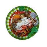 Faixa mexicana do prato da carne Fotografia de Stock