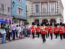 Faixa militar de marcha em Windsor real Imagens de Stock Royalty Free