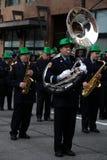 Faixa, parada do dia do St. Patrick Imagens de Stock