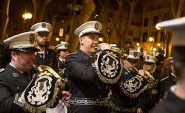 Faixa processional da música da Semana Santa da Páscoa Fotos de Stock