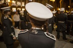 Faixa processional da música da Semana Santa da Páscoa Imagem de Stock Royalty Free