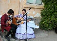 Faixa que canta a música barroca Imagens de Stock