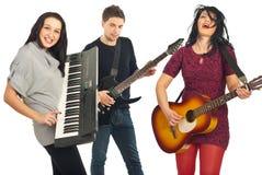 Faixa que joga instrumentos musicais Imagem de Stock Royalty Free