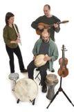 Faixa que joga a música celta Fotografia de Stock Royalty Free