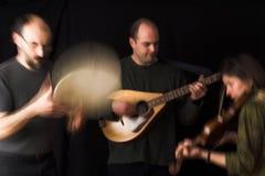 Faixa que joga a música celta Imagens de Stock Royalty Free