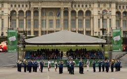 Faixa romena da música militar do Gendarmerie Imagem de Stock Royalty Free