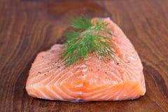 Faixa salmon crua Fotografia de Stock