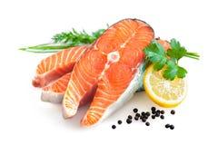 Faixa salmon fresca