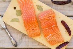 Faixa Salmon fresca crua Foto de Stock Royalty Free