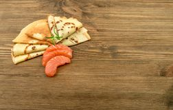 Faixa salmon fumada Foto de Stock Royalty Free