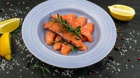 Faixa salmon fumada Imagem de Stock Royalty Free
