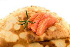 Faixa salmon fumada Imagens de Stock