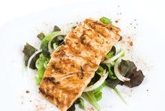 Faixa salmon grelhada foto de stock royalty free