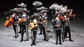 Faixa tradicional da música do Mariachi, México imagens de stock
