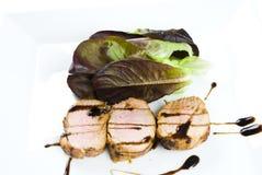 Faixa vitrificada da carne de porco fotos de stock royalty free