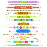 Faixas coloridas da amizade Fotografia de Stock