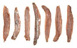 Faixas das anchovas Fotografia de Stock Royalty Free