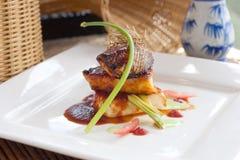 Faixas de bacalhau de Terriyaki Imagem de Stock