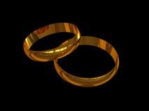 Faixas de casamento 1 Fotos de Stock Royalty Free