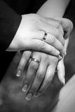 Faixas de casamento Fotografia de Stock Royalty Free