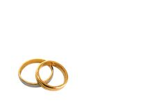 Faixas de casamento Fotos de Stock