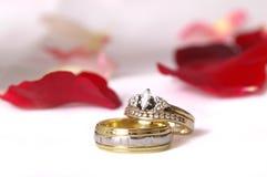 Faixas de casamento da Elevado-Chave imagem de stock