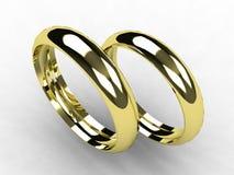 Faixas de casamento finas do ouro Fotografia de Stock