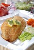 Faixas de peixes fritadas Fotos de Stock