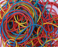 Faixas elásticas coloridas Fotografia de Stock Royalty Free