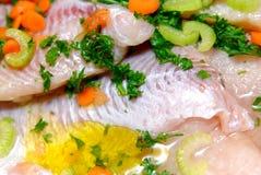 Faixas frescas dos peixes Fotografia de Stock Royalty Free
