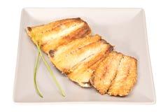 Faixas fritadas da sardinha Imagens de Stock