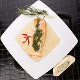 Faixas salmon cozinhadas Imagens de Stock Royalty Free