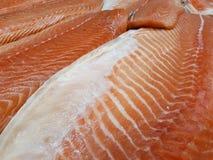 Faixas salmon frescas Fotografia de Stock Royalty Free
