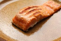 Faixas salmon grelhadas Fotografia de Stock Royalty Free