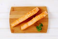 Faixas salmon Roasted fotos de stock