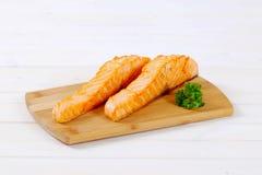 Faixas salmon Roasted imagens de stock royalty free