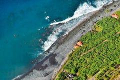 Fajã DOS-Feldgeistlichen - Madeira lizenzfreies stockfoto