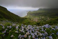 Fajãzinha, Flores, Azores, Portugal Stock Images