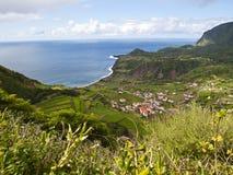 Fajãzinha, Flores island stock photography