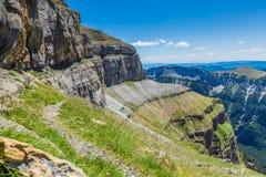 Faja de las flores Ordesa y Monte Perdido National Park, Spain.  Stock Photos