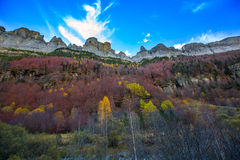 Faja de Pelay in Ordesa valley Pyrenees Huesca Spain Royalty Free Stock Image
