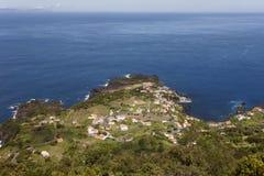 Faja do Ouvidor in Sao Jorge. Azores, Portugal. Atlantic ocean Royalty Free Stock Photos